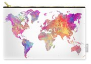 World Map Art Carry-all Pouch