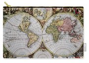 World Map, C1690 Carry-all Pouch