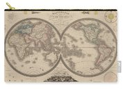 World Map Divided Into Two Hemispheres Carry-all Pouch