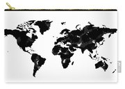 World Map In Black And White Carry-all Pouch