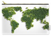 World Map Made Of Green Trees Carry-all Pouch
