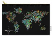 World Map Mandala Feathers 2 Carry-all Pouch