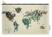 World Map Mandala Feathers 3 Carry-all Pouch