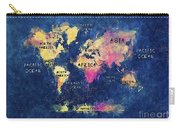 World Map Oceans And Continents Carry-all Pouch