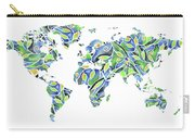 World Map Organic Green And Blue Carry-all Pouch