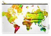 World Map Painted Carry-all Pouch