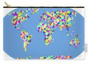 World Map Palette Carry-all Pouch
