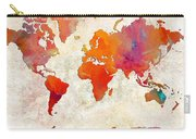World Map - Rainbow Passion - Abstract - Digital Painting 2 Carry-all Pouch