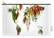 World Map Running Paint 01 Carry-all Pouch