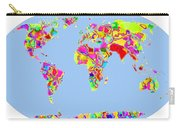 World Map Viscous Carry-all Pouch