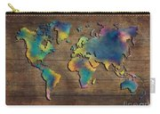 World Map Wood Carry-all Pouch
