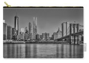 World Trade Center And The Brooklyn Bridge Bw Carry-all Pouch