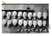 World War I Masks, 1918 - To License For Professional Use Visit Granger.com Carry-all Pouch