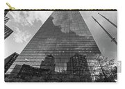 World's Largest Canvas John Hancock Tower Boston Ma Black And White Carry-all Pouch