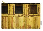 Worn Yellow Passanger Car Carry-all Pouch