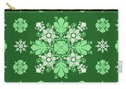 Wrapping Wallpaper Floral Seamless Tile For Website Vector, Repeating Foliage Outline Floral Western Carry-all Pouch