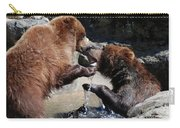 Wrestling Grizzly Bears In A Shallow River Carry-all Pouch