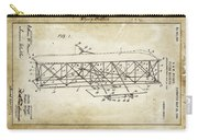 Wright Brothers Flying Machine Patent 1903 Carry-all Pouch
