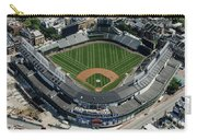 Wrigley Field In Chicago Aerial Photo Carry-all Pouch