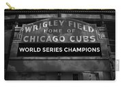 Wrigley Field Sign -- Bw Carry-all Pouch