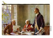Writing The Declaration Of Independence Carry-all Pouch by War Is Hell Store