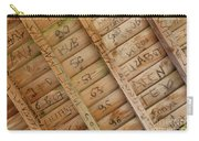 Writings On Wood Carry-all Pouch