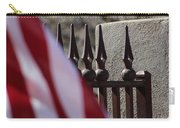 Wrought Iron And American Flag Carry-all Pouch