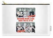 Ww2 Rationing Cartoon Carry-all Pouch