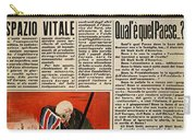 Wwii: Italian Newspaper Carry-all Pouch