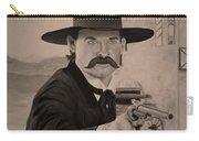 Wyatt Earp - Kurt Russell B And W Carry-all Pouch
