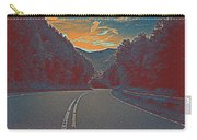 Wynding Road In Between Trees Carry-all Pouch