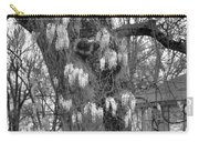 Wysteria Tree In Black And White Carry-all Pouch