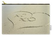 Xoxo - Message Written In The Sand Carry-all Pouch