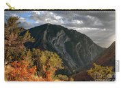 Y Mountain Above Provo Utah At Sunset Carry-all Pouch