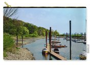 Yacht Harbor On The River. Film Effect Carry-all Pouch