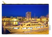 Yacht In Zadar Harbor Evening View Carry-all Pouch
