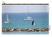 yacht sailing in the Mediterranean sea Carry-all Pouch