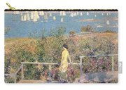Yachts In Gloucester Harbor Carry-all Pouch by Childe Hassam