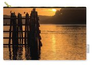 Yaquina Bay Sunset - Vertical Carry-all Pouch