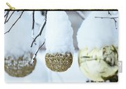 Yarn In The Snow Carry-all Pouch