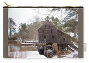 Yates Mill In Winter Carry-all Pouch by Kevin Croitz