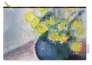 Yello Flowers In Blue Vaze Carry-all Pouch