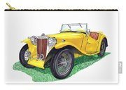 Yellow 1949 M G T C Midget Carry-all Pouch