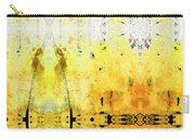 Yellow Abstract Art - Good Vibrations - By Sharon Cummings Carry-all Pouch