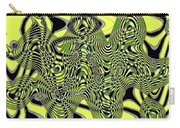 Yellow And Black #3 Abstract Carry-all Pouch