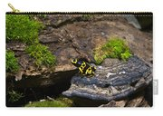 Yellow And Black Dart Frog Carry-all Pouch