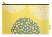 Yellow And Gray Garden Bloom Carry-all Pouch