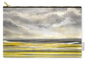 Yellow And Gray Seascape Art Carry-all Pouch