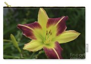 Yellow And Marron Flowering Lily In A Garden Carry-all Pouch