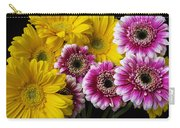 Yellow And Pink Gerbera Daisies Carry-all Pouch